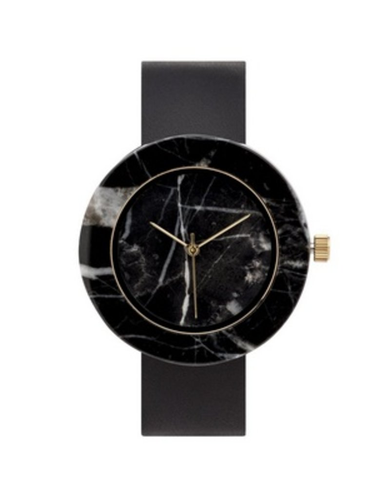 Marble Circle Mason Watch | Black, Black
