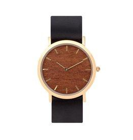 Makore Classic Watch |  Black Strap