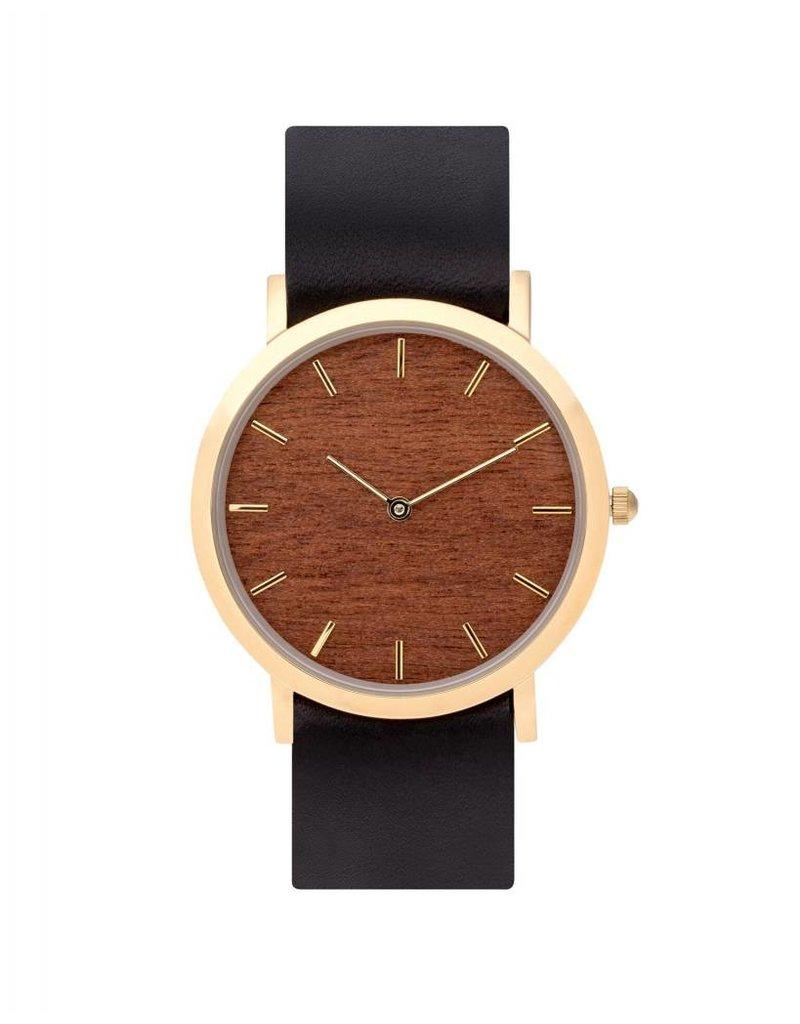 Makore Classic Watch    Black Strap