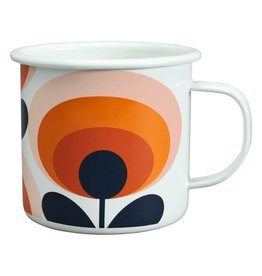 Enamel Mug 70's Flower Mug Persimmon 500 ML