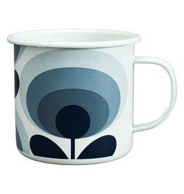 Enamel Mug 70's Flower Mug Slate 500 ML