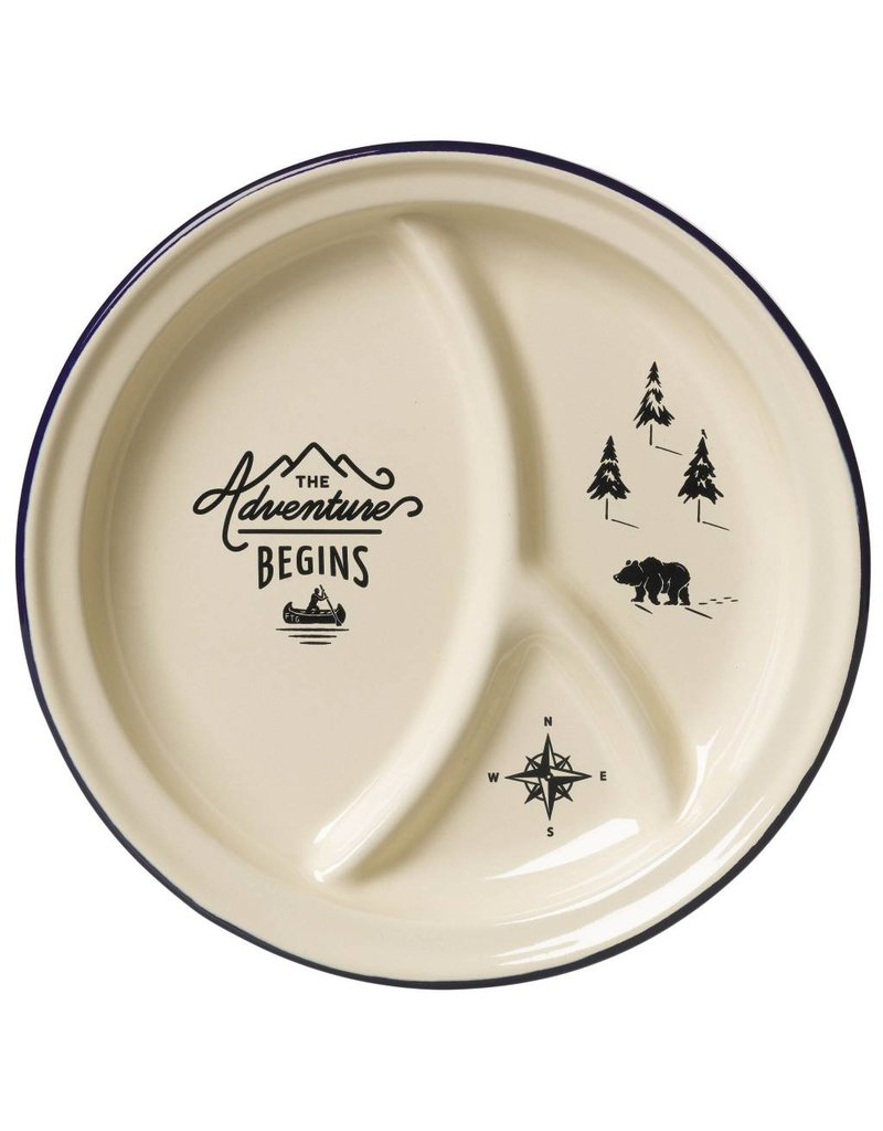 Adventure Enamel Divided Plate