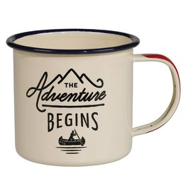 Adventure Enamel Mug, Cream