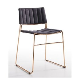 Midj | Slim S TS Chair | Grey + Rose Gold