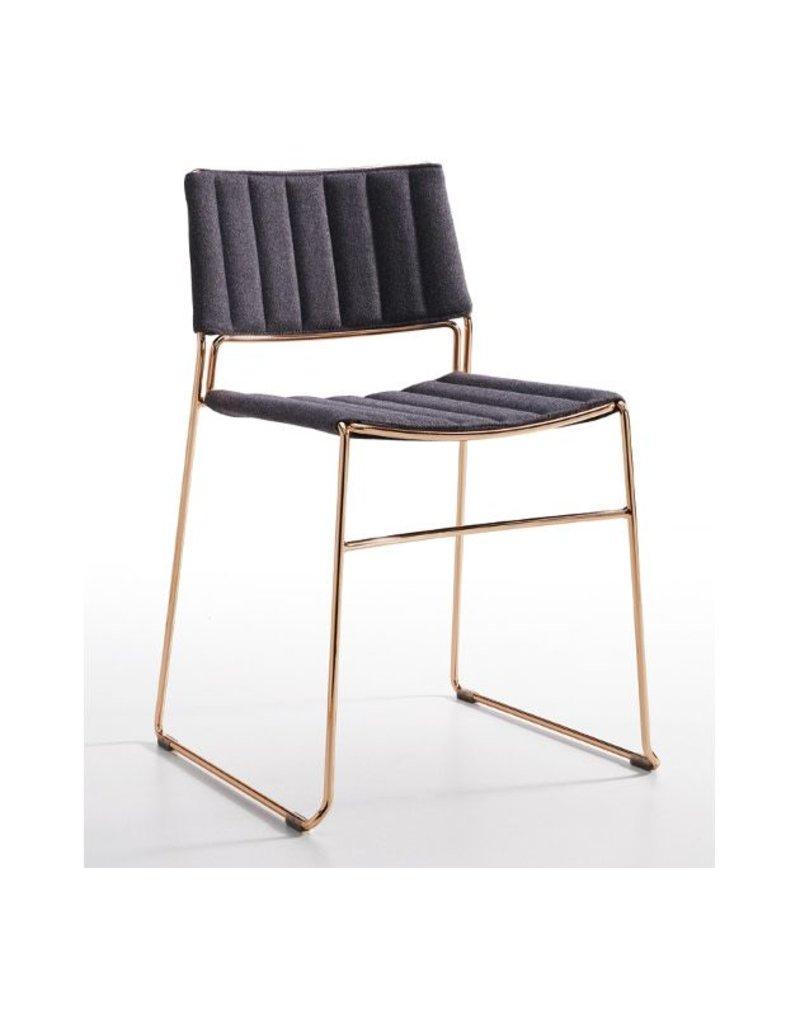 Midj | Slim S TS Chair | Grey + Rose Gold