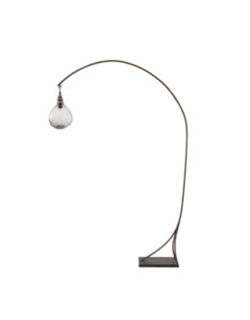 Mantis Floor Lamp w/ Clear Globe