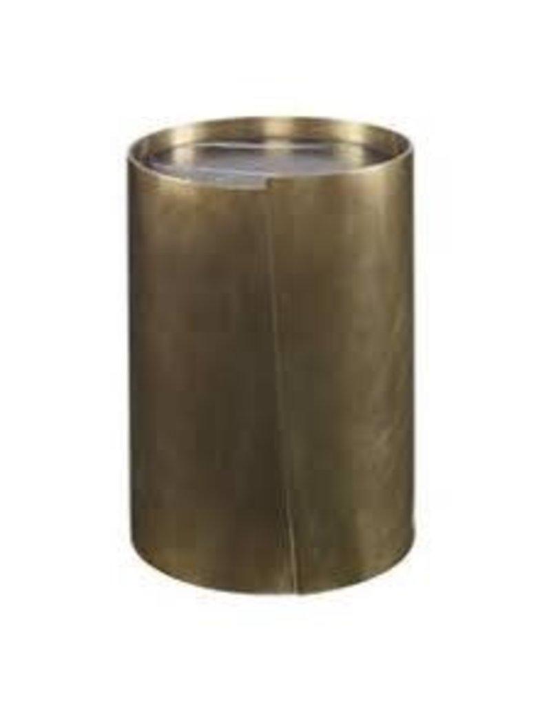 Kelly Wearstler   Alta Side Table Burn Brass With Negro