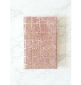 Golden Gridlock Velvet Journal