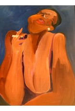 Gerson Leiber | Black Woman Smoking Painting *CS