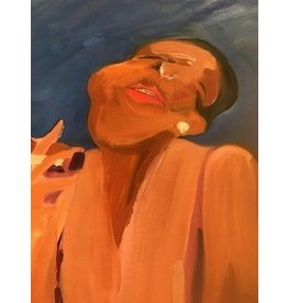 Gerson Leiber | Black Woman Smoking Painting