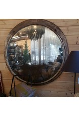 Fish Eye Antique Round Mirror