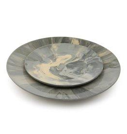 EdgeWood Salad Plate | Marble Gray