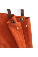 Suede Feed Bag, Rust
