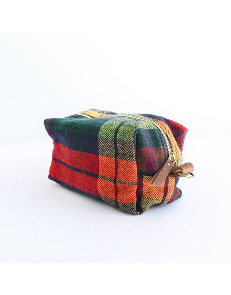 Cosmetics Bag, Plaid
