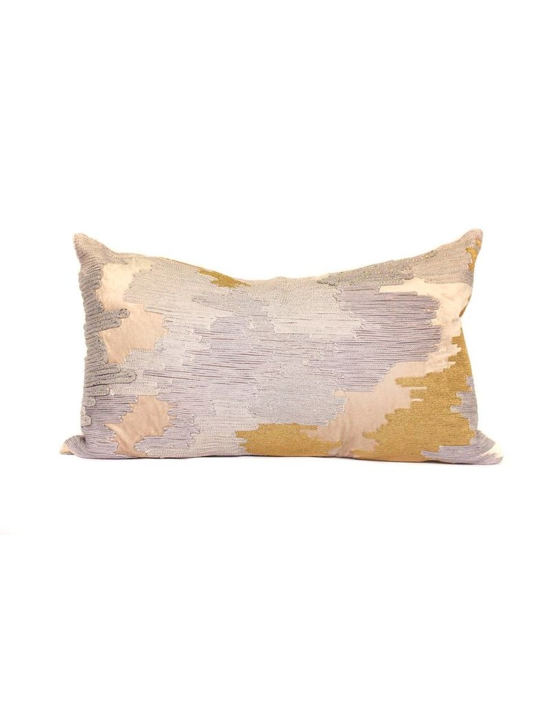 Sand Velvet Pillow | Lumbar | Mixed + Met