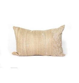 Uninterupted Pillow | Natural Linen + Raw Silk