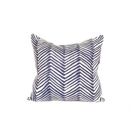 Zebra Pillow | Navy Blue + White