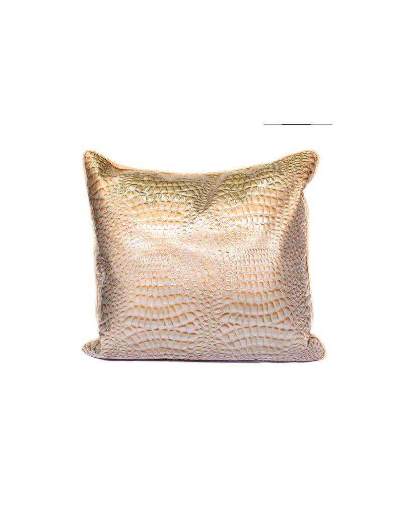 Croco Pillow 01 | Tan