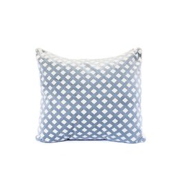 Diamond Pillow | Lucerne + White
