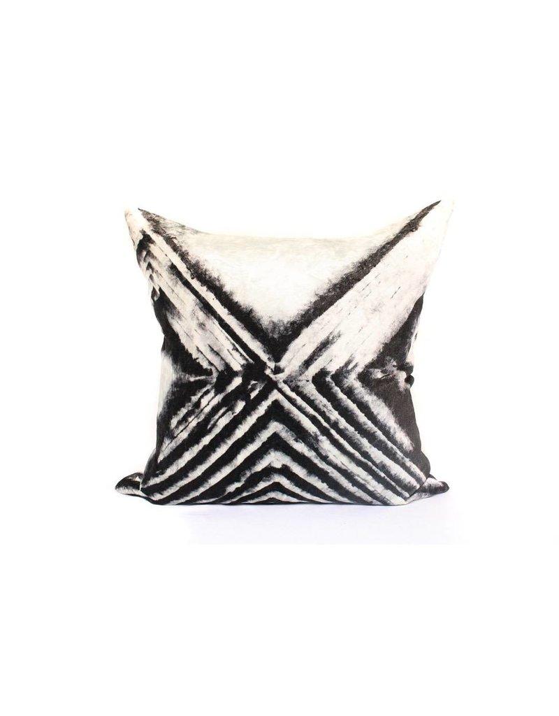Risk Taker Pillow | Black + Creme