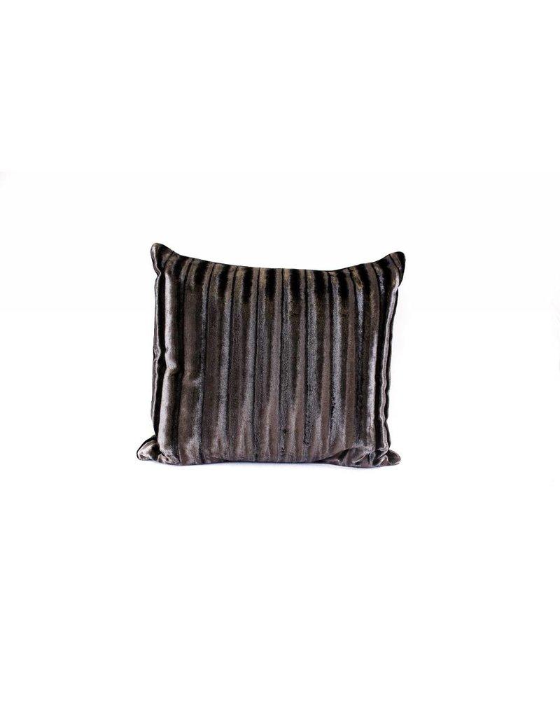 Velvet Crush Pillow | Black