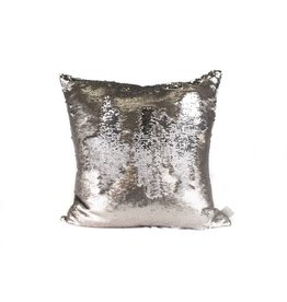 Smoke Pillow | Silver Sequin