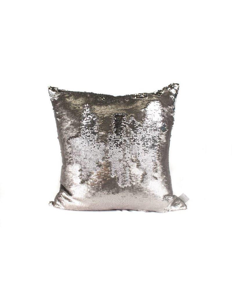 Smoke Pillow   Silver Sequin