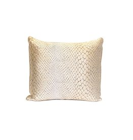 Snake Skin Pillow | Gold