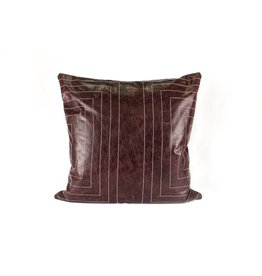 Streams Leather Pillow | Oxblood