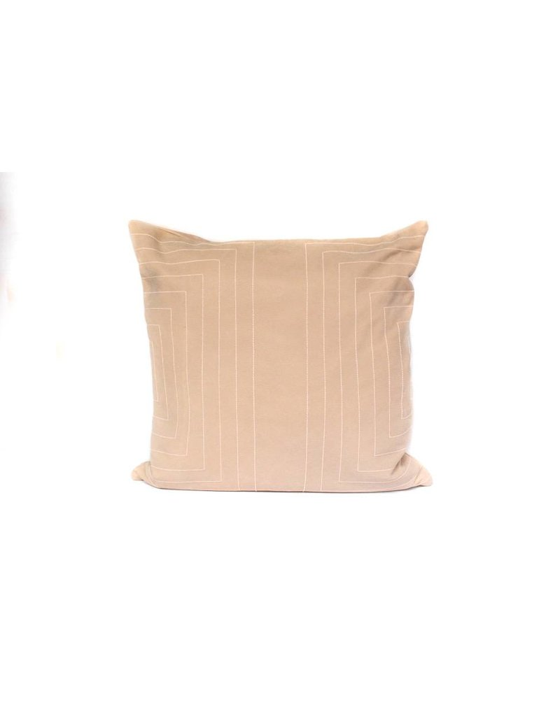 Streams Leather Pillow | Taupe