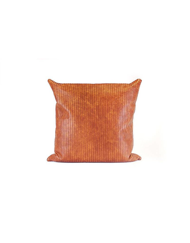 Leather Lines Pillow   Cigar