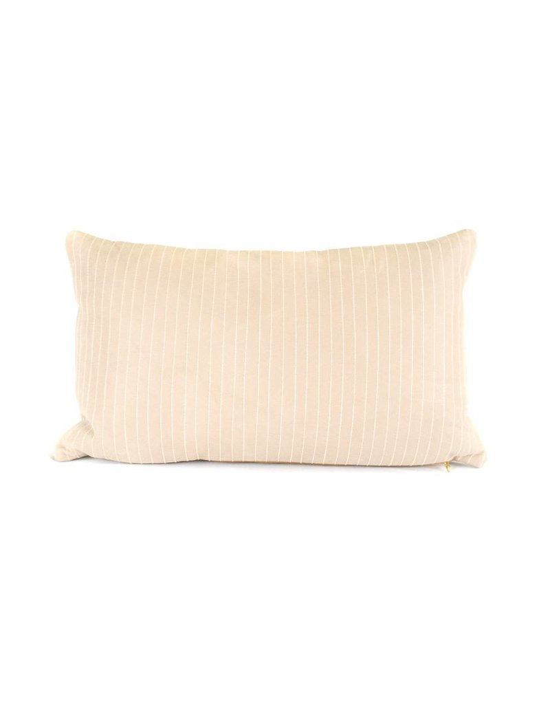 Leather Lines Pillow | Lumbar | Nude