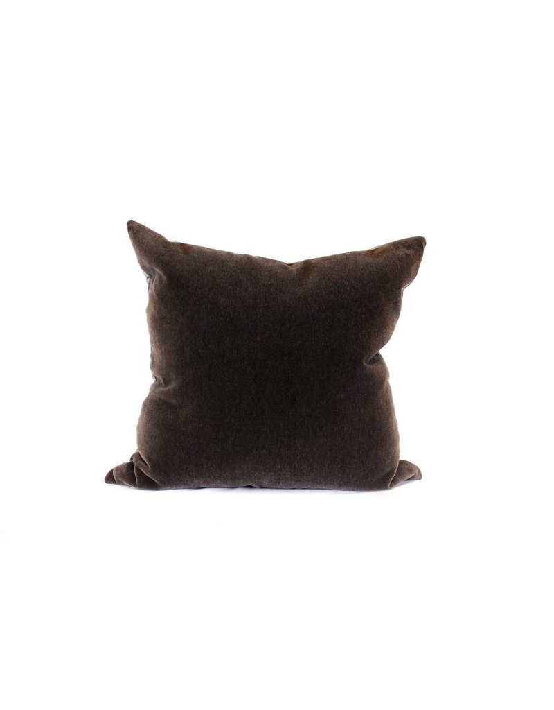 Mohair Pillow | Charcoal + Ebony
