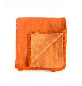 Silk Wool Kantha | Persimon | 120 x 84