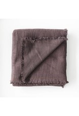 Textured Cotton Blanket | Potters Clay | 120 x 84