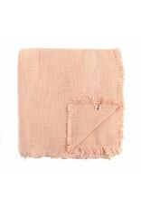 Textured Cotton Blanket | Melon | 84 x 84