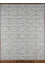 "Kilim 8'1"" x 10'2"" 071744 *CS* cream grey"