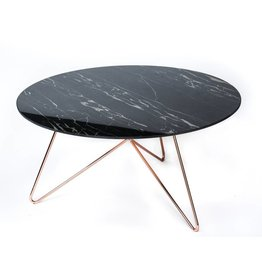 Link Table | Copper + Ceramic Travertine