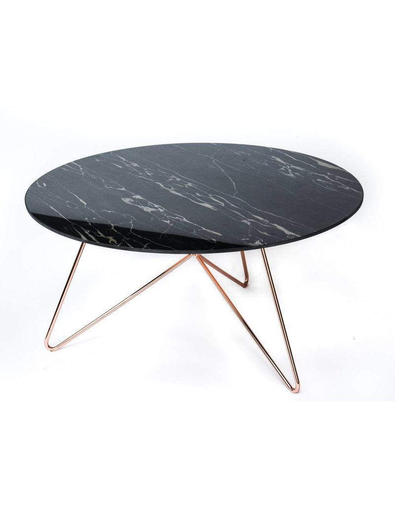 Link Table | Copper + Ceramic Travertine
