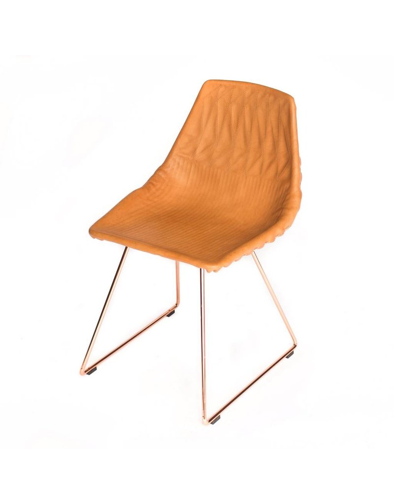 Lucy Side Chair | Leather Saddle
