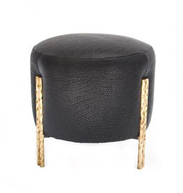 Kelly Wearstler | Melange Stool Burnish Brass