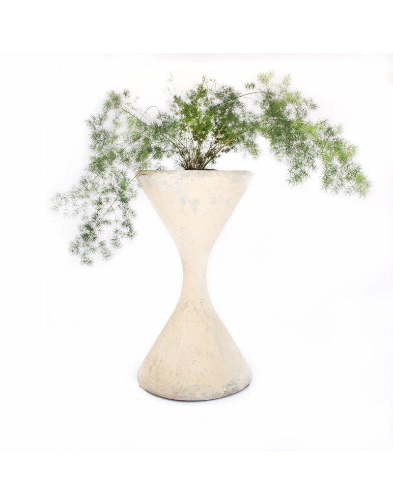 White Hourglass Planter | Small