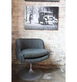 Nixon Swivel Chair  Blue + Green