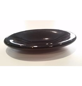 Oval Black Salt Cellar  Archie Bray