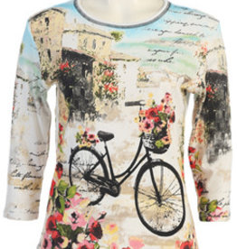 Jess and Jane Floral Bicycle Top