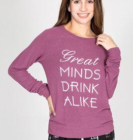 PJ Salvage PJ Salvage Great Minds Drink Alike Top