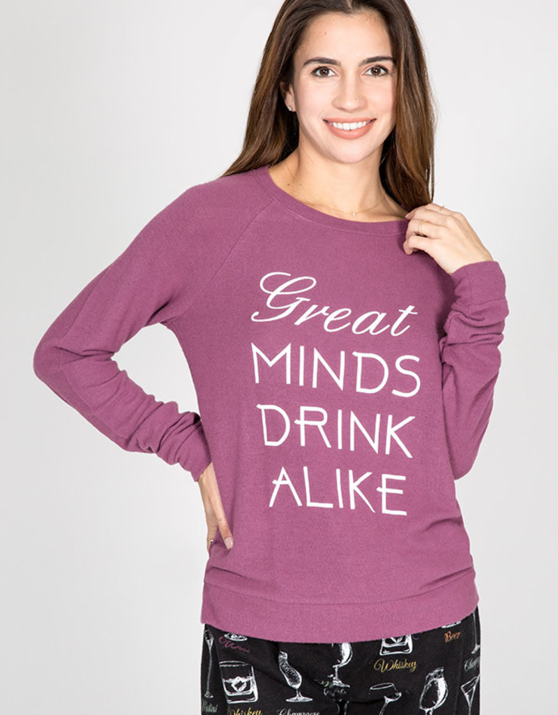PJ Salvage Great Minds Drink Alike Top