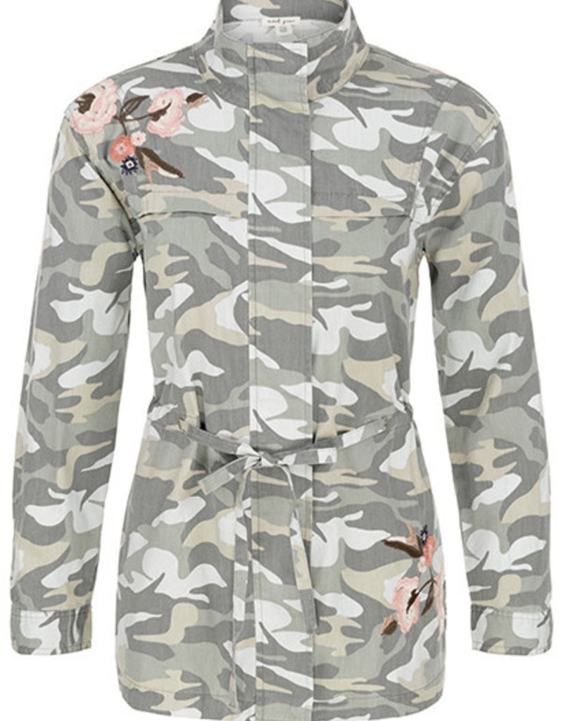 Tribal Embroidered Camo Jacket