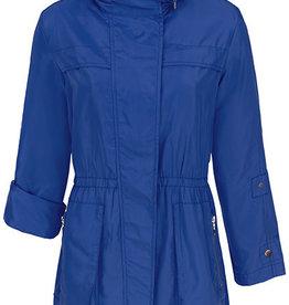 Tribal Roll Up Sleeve Rain Jacket with Hood