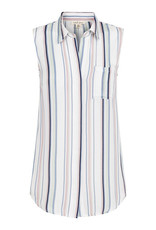 Tribal Sleeveless Stripe Button Front Shirt